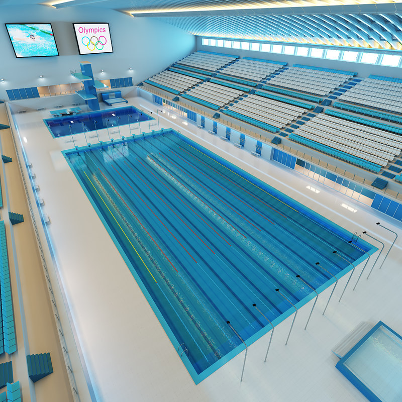 3d olympic sport swimming pool for Swimming pool 3d model free download