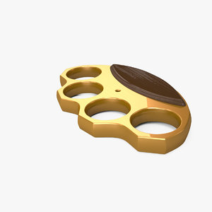 3d brass knuckles model
