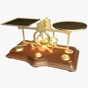3ds max old antique postage scales