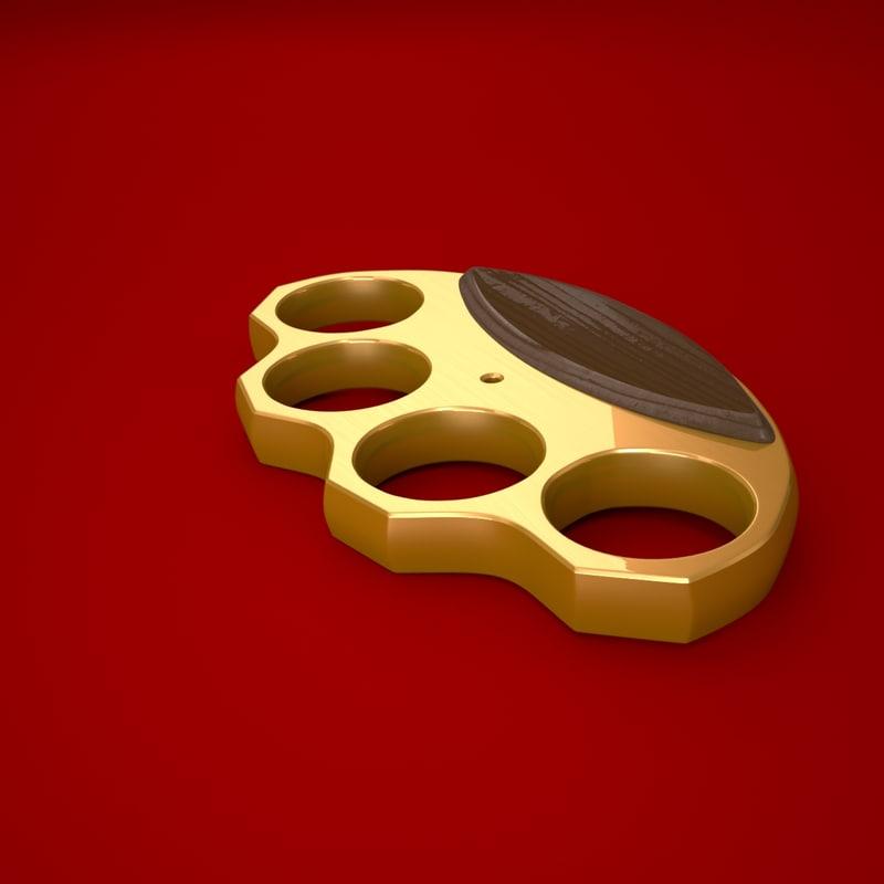 3d brass knuckles model