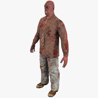 zombie 2 rigged 3d model