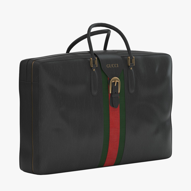 gucci luggage 3d dwg