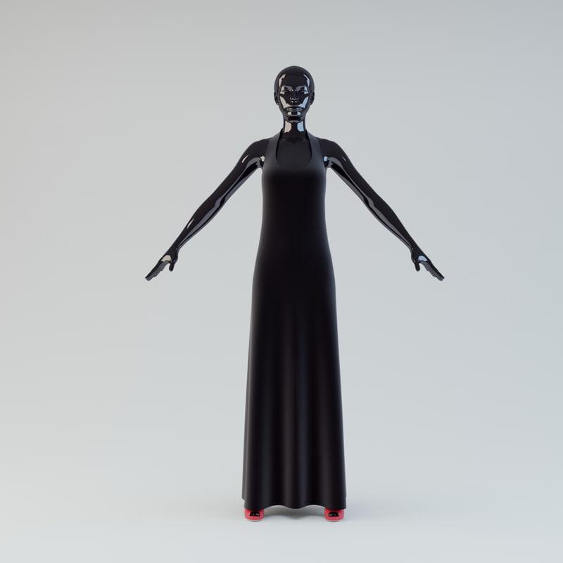 3d showroom mannequin 01 model
