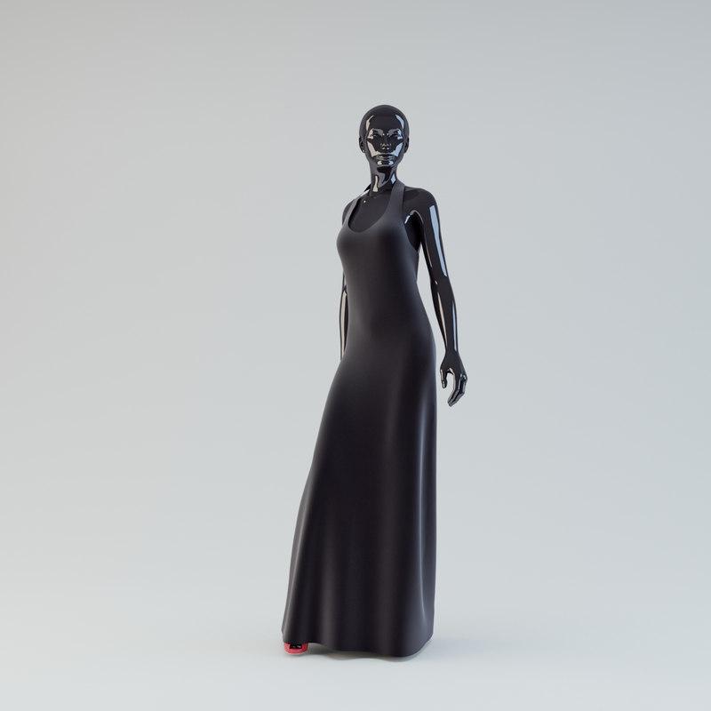 3d model showroom mannequin