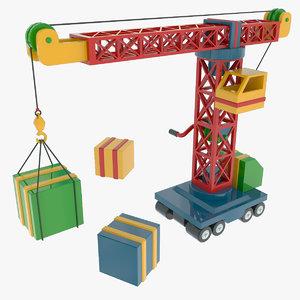 3d toy crane