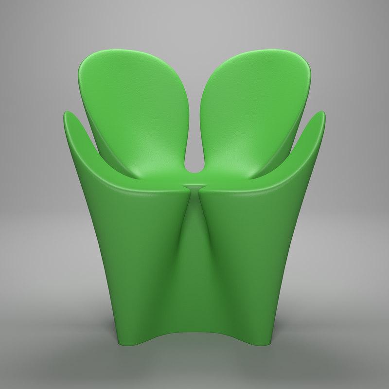 driade clover chair 3ds