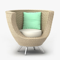 3d model wicker chair