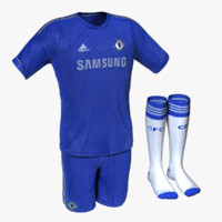 3d model jersey chelsea home