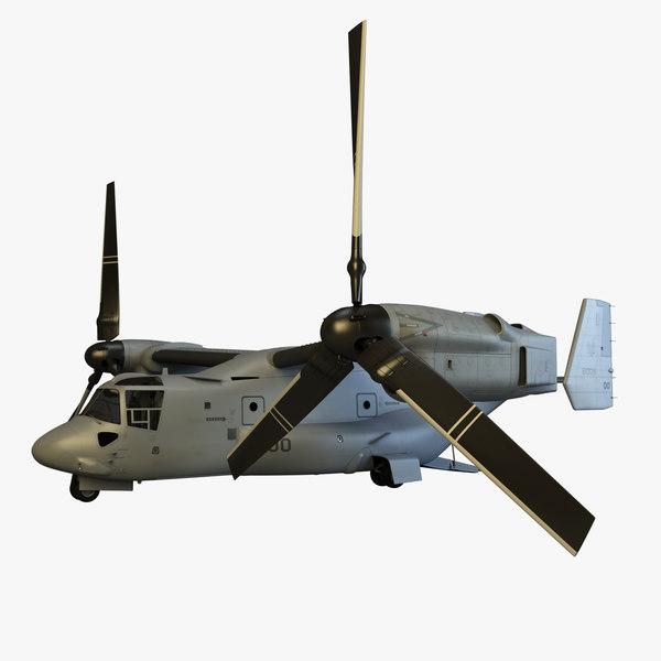 3d model of mv-22 osprey