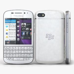 3d blackberry q10 white