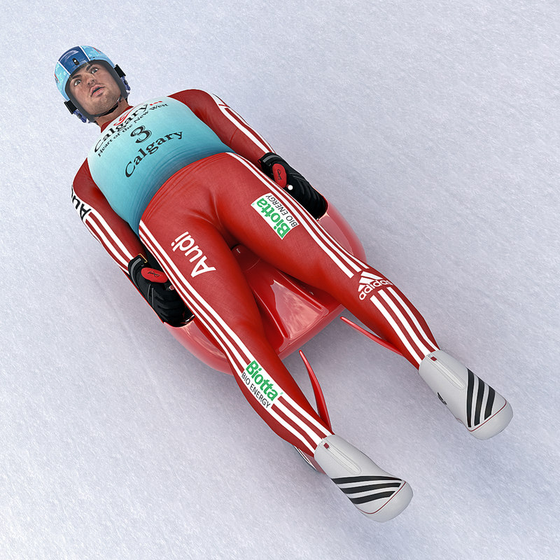 luge player 3d max