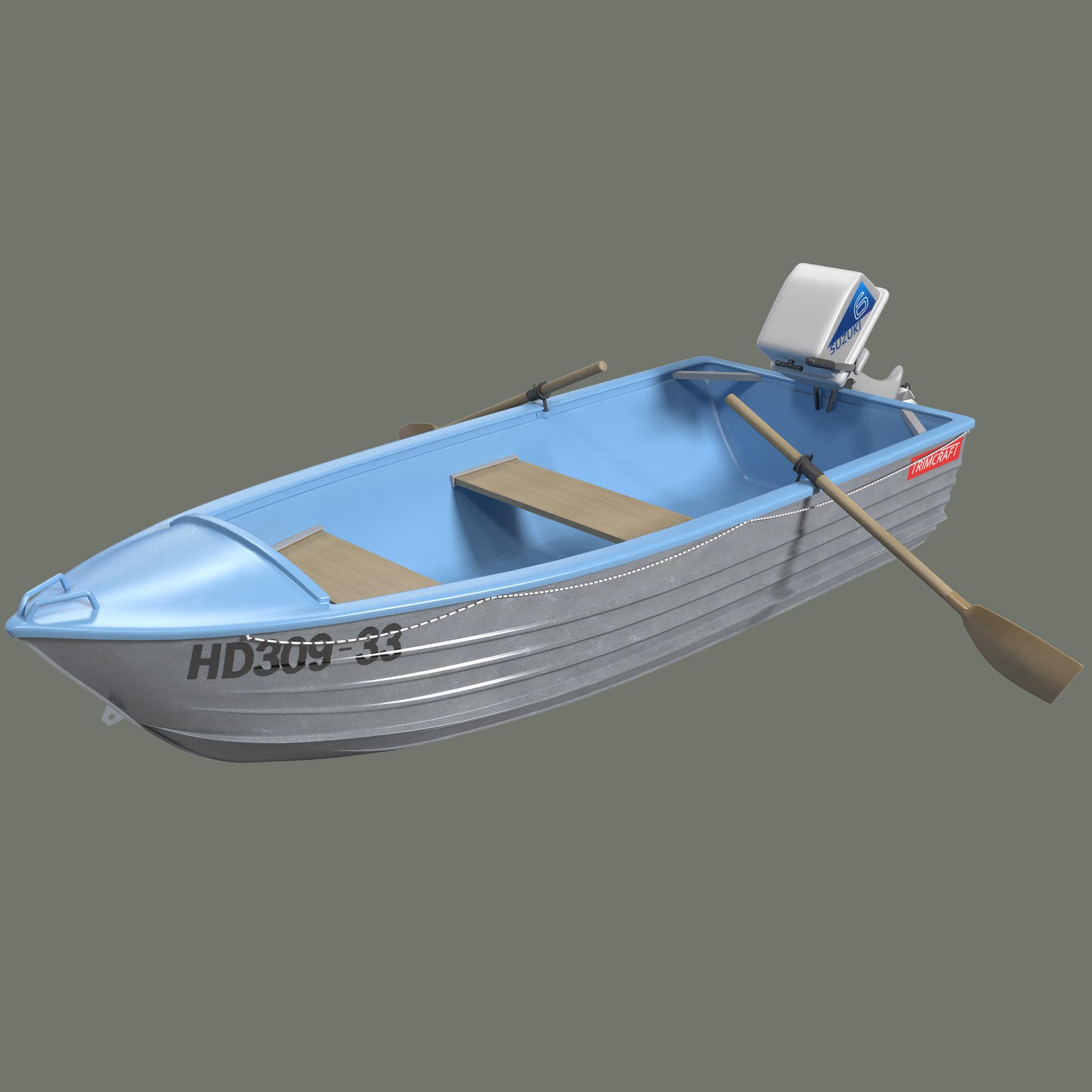 3d model trimcraft boat