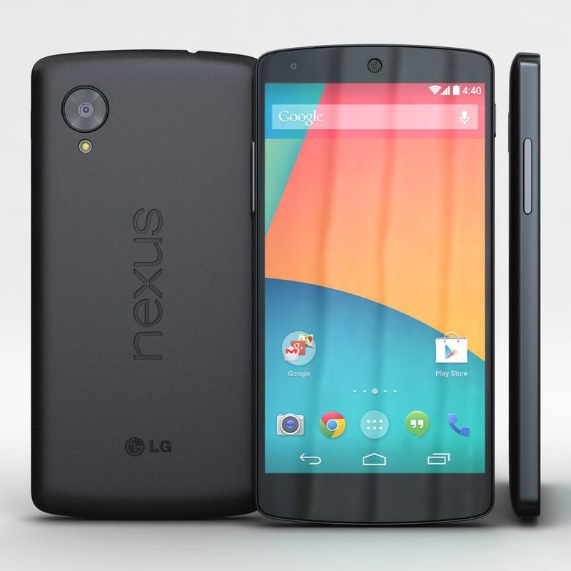 3d lg google nexus 5 model
