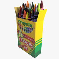 box crayons 3d model