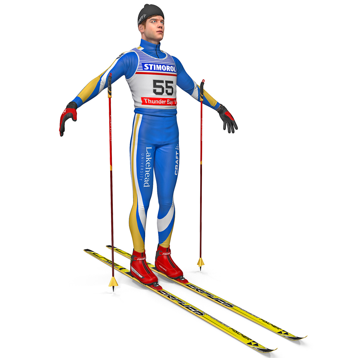 cross country skier 3d 3ds