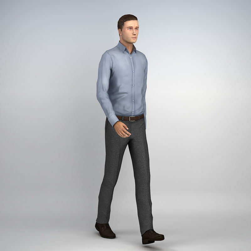 3d pre posed human casual man