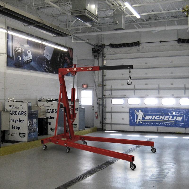 max car repair shop crane