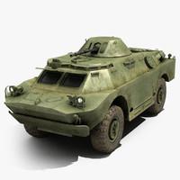 russian brdm-2 3d model