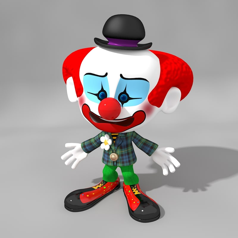 model clown cartoon ged
