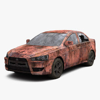 3ds rusty mitsubishi lancer
