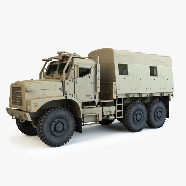 armored oshkosh mtvr amk23 3d max