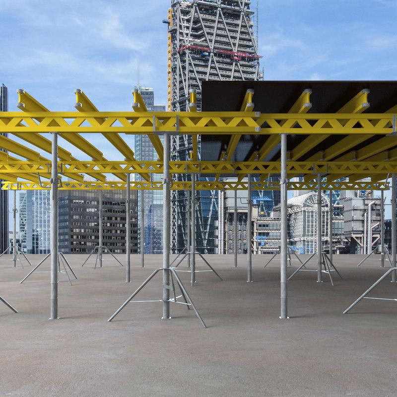 3d model slab framework