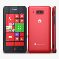 3d model huawei ascend w2 red