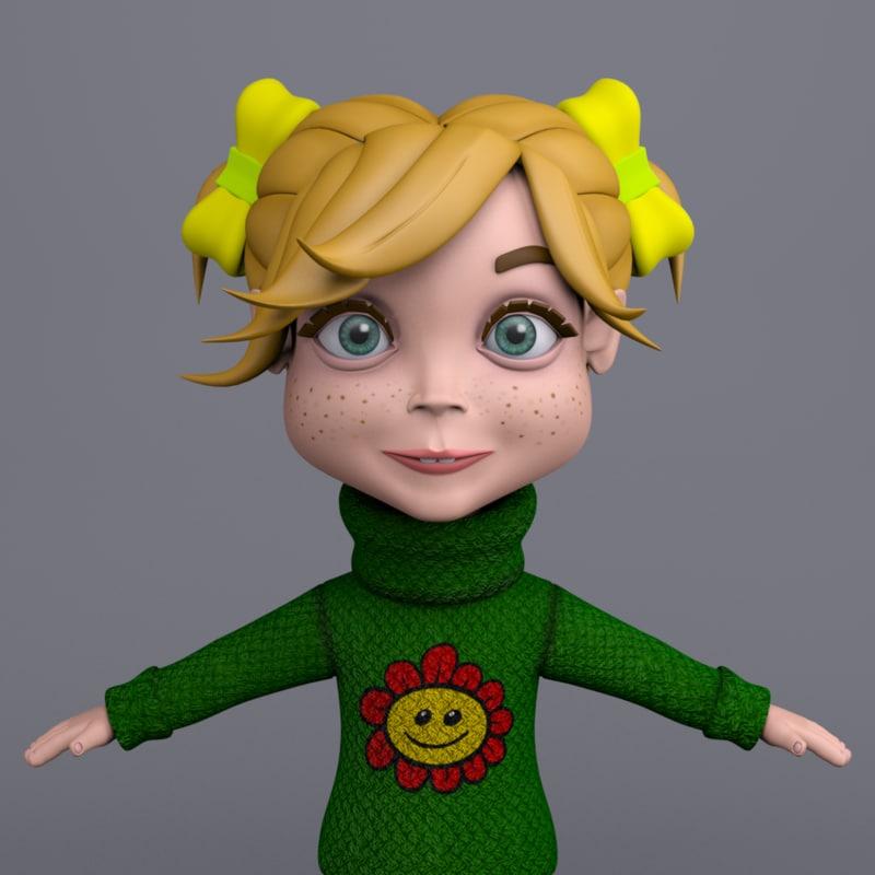 cartoon girl mia