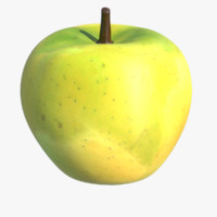 apple fruit 3d max