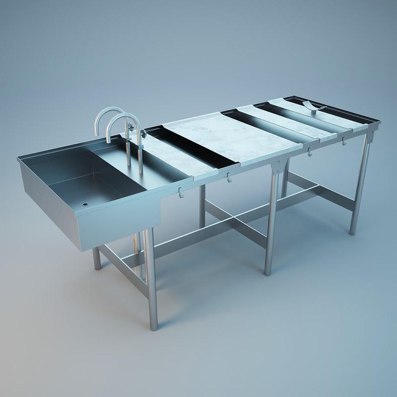 medical autopsy table 3d max
