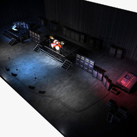 3d model live band set