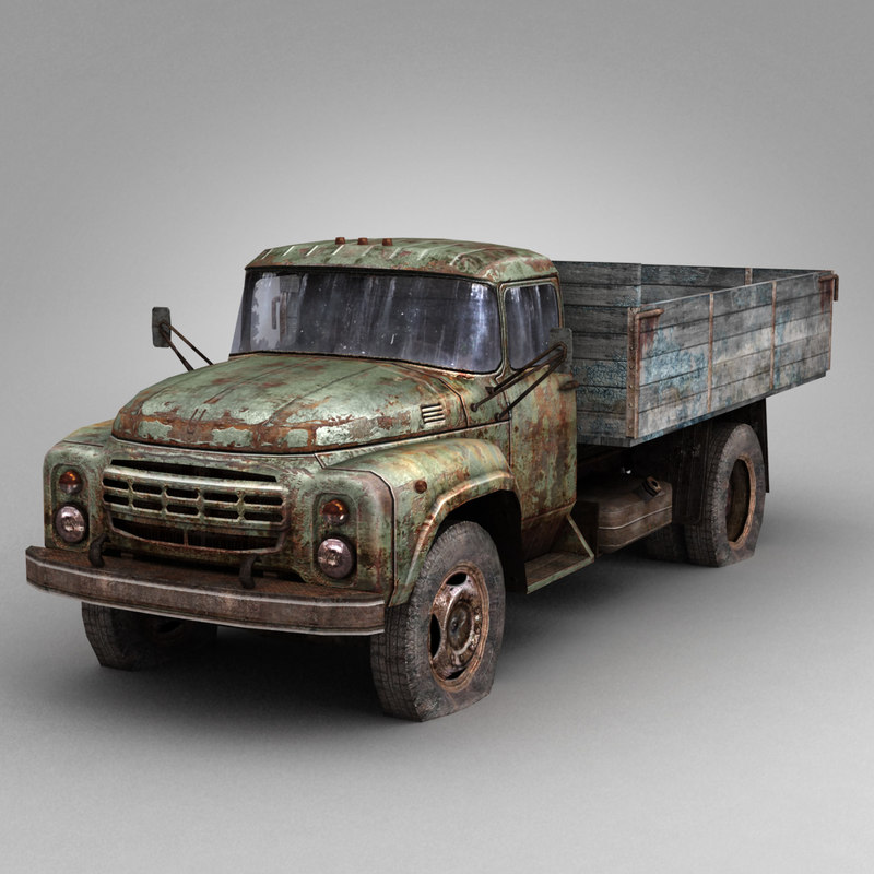 3d model damaged truck zil-130