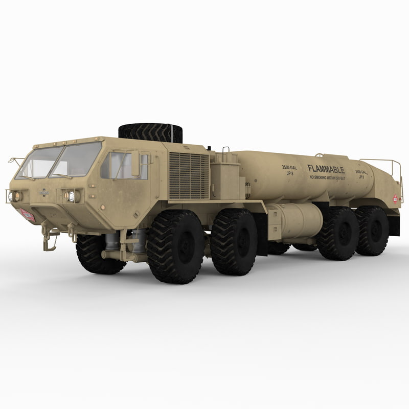 3d model hemtt 978 trailer truck