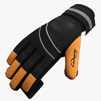 luge gloves 3d max