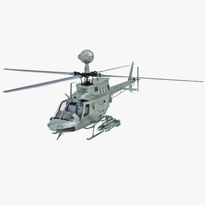 military helicopter bell oh 3d model