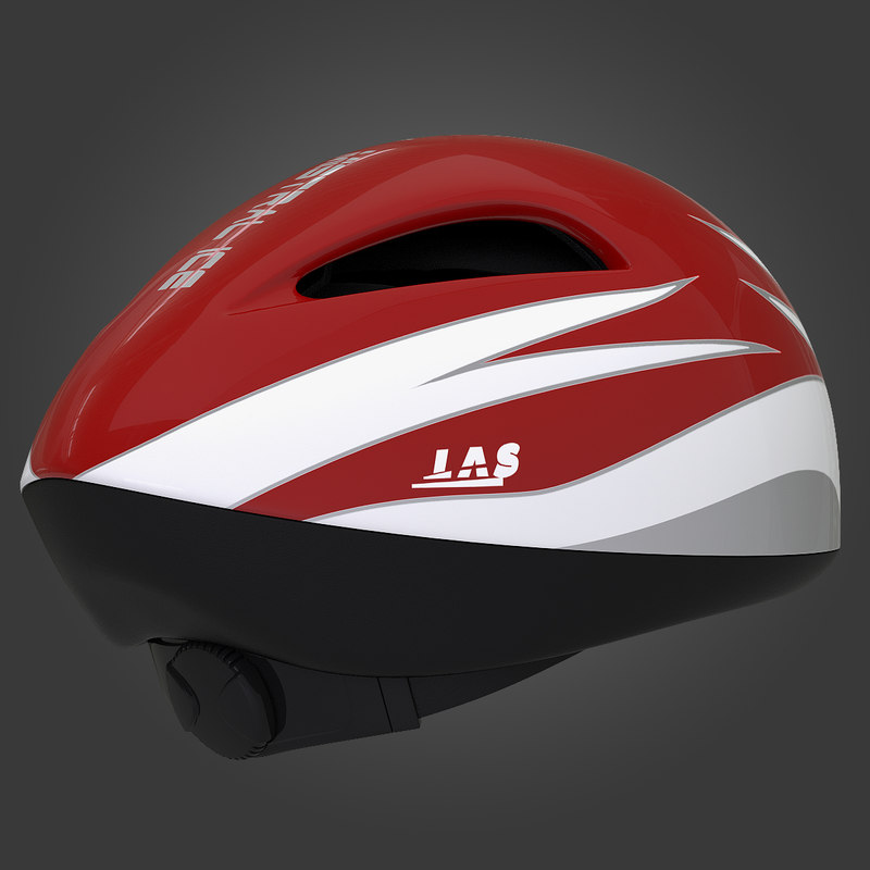 mistral short track helmet 3d dwg