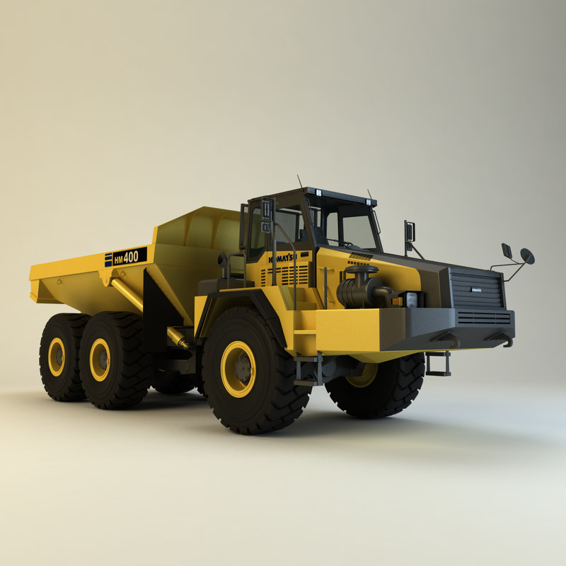 komatsu hm400-2 dump truck fbx