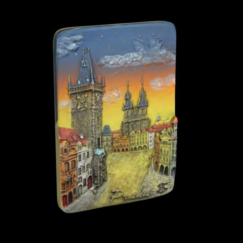 prague magnet souvenir 3d max