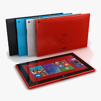 3d nokia lumia 2520 colors model