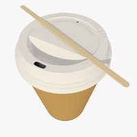 large paper coffee cup 3d model