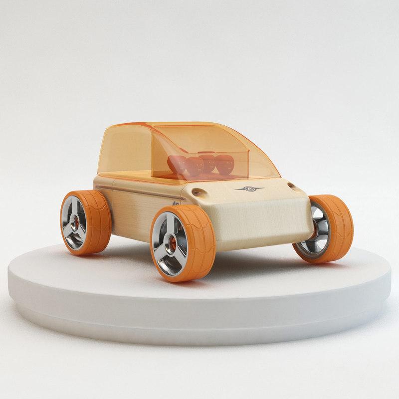 3d model - automoblox a9 city car