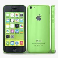 3d apple iphone 5c green model
