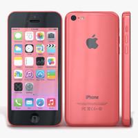 apple iphone 5c pink 3d model
