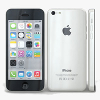 3d apple iphone 5c white