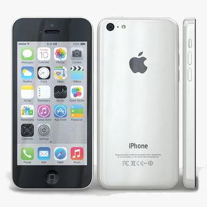 3d apple iphone 5c white