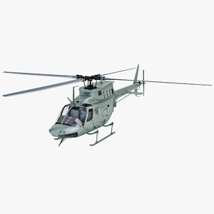 3d model military helicopter bell oh