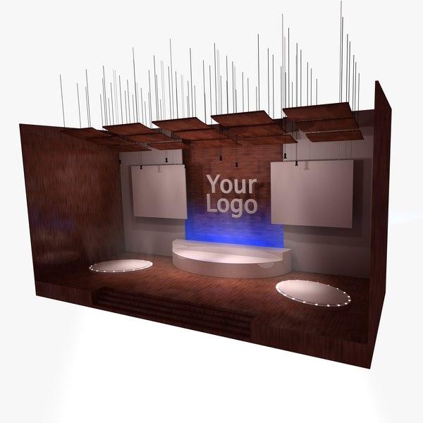 talkshow stage 3d model