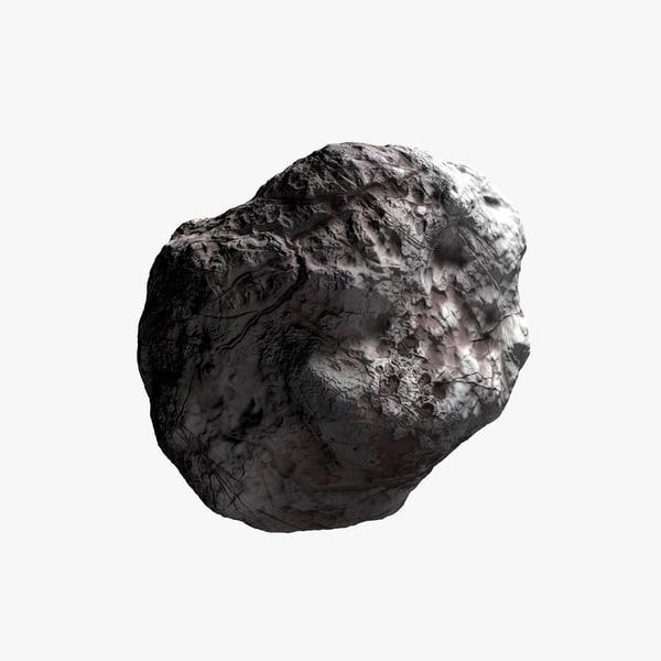 3d boulder model