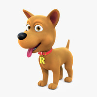 3d model cartoon dog rex