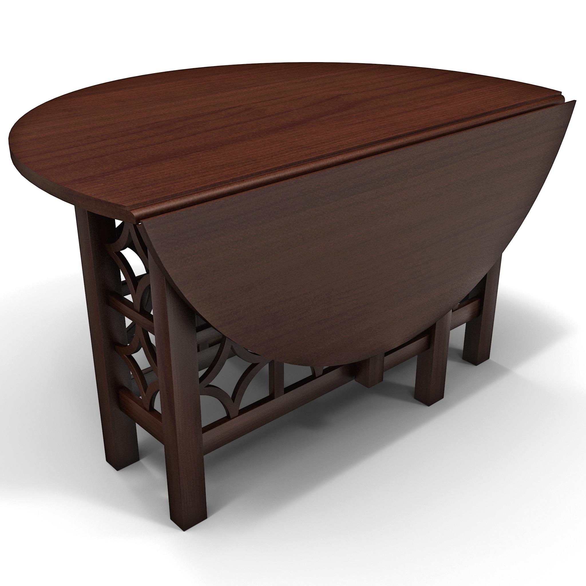 gate leg table howard 3d model